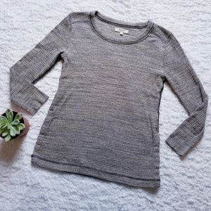 Madewell Thermal Top with buttons at the side S